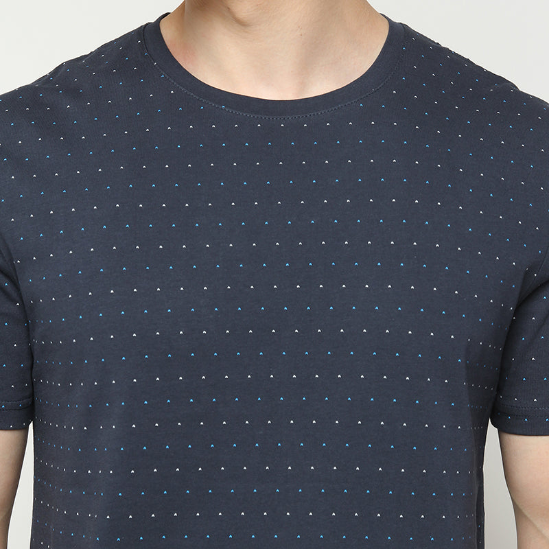 Dotted 002 S/S Tee - Navy