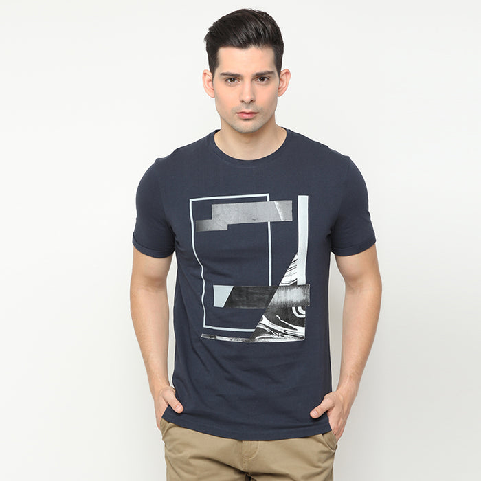 Abstract 007 S/S Tee - Navy