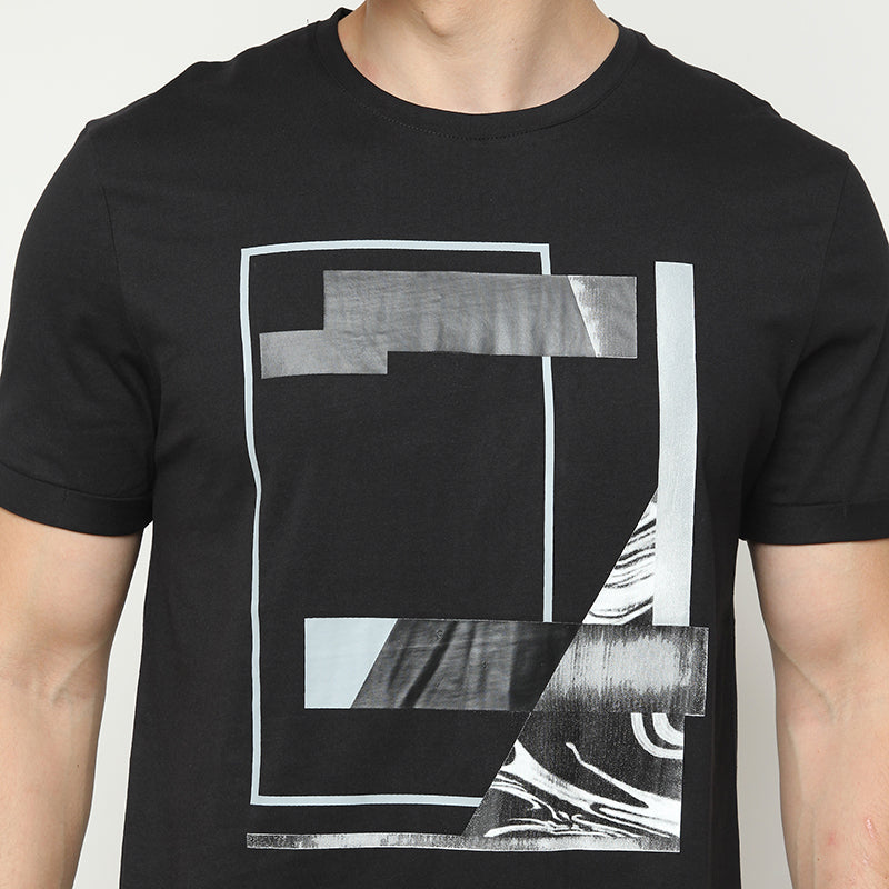 Abstract 007 S/S Tee - Black