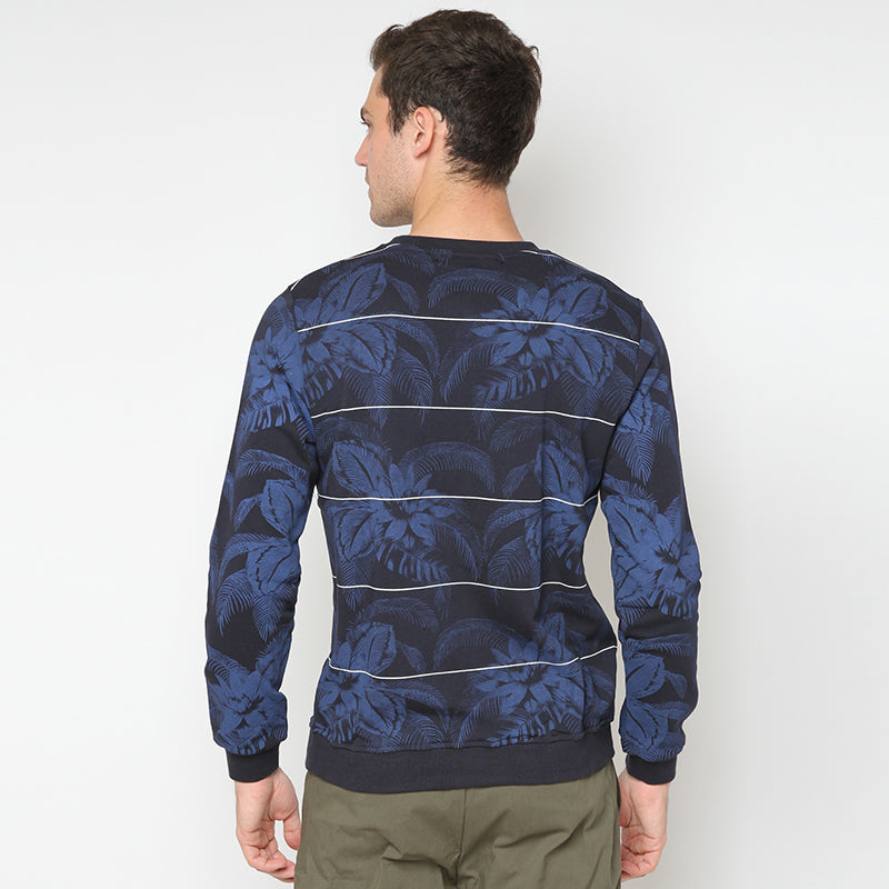 Palm Floral Sweatshirt - Navy