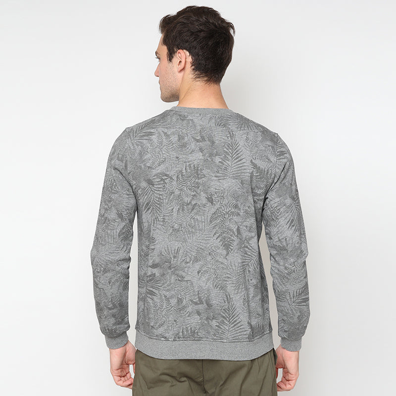 Leaf Print 02 Sweatshirt - Grey