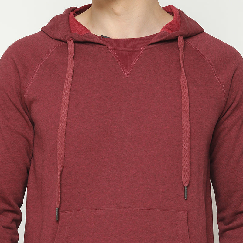 Collared Hoodie - Red
