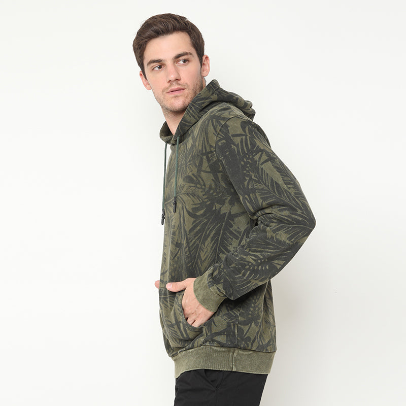 Leaf Washed Hoodies - Green