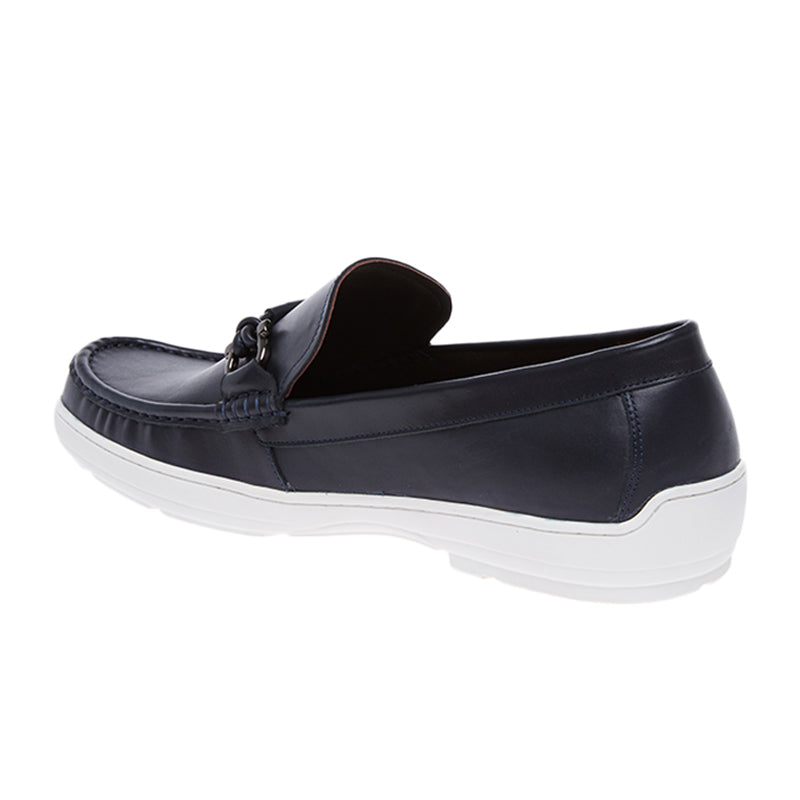 Amos Leather Loafers - Navy