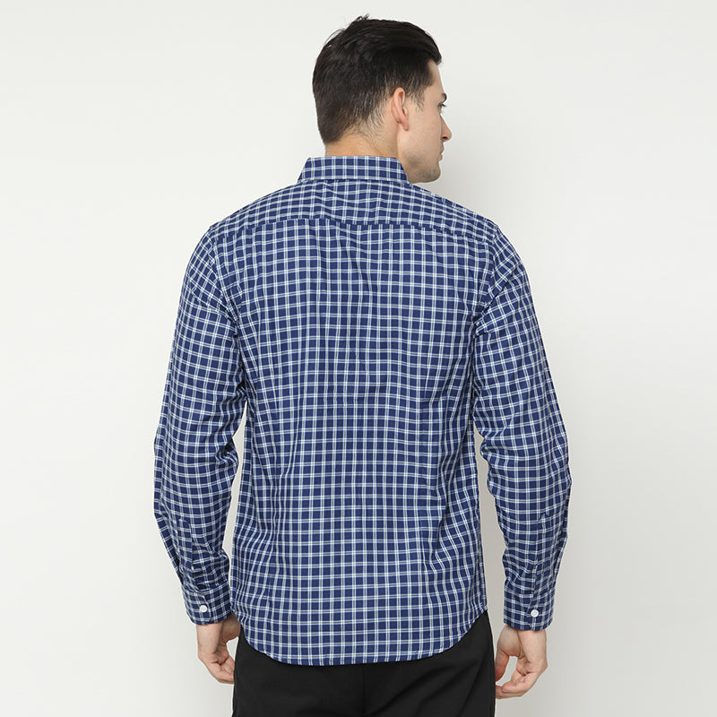Plaid 06 L/S Shirt - Navy