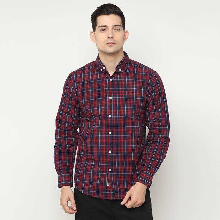 Plaid 07 L/S Shirt - Red