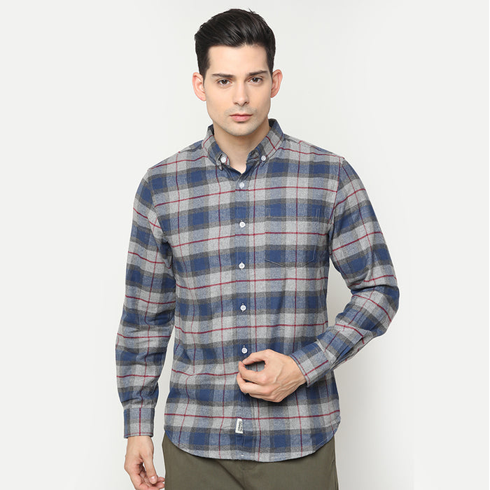 Flannel 004 L/S Shirt - Blue