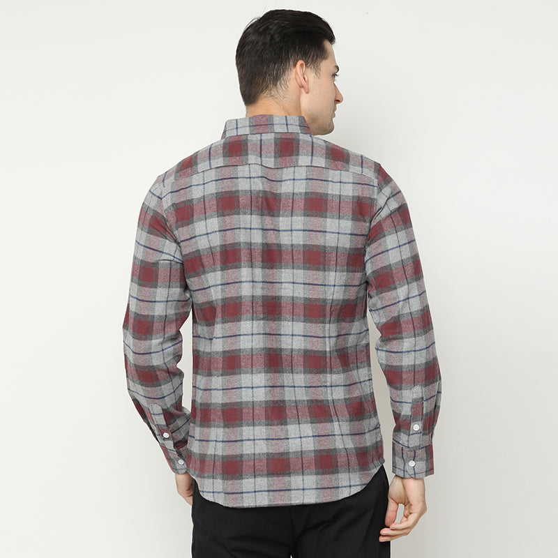 Flannel 004 L/S Shirt - Red