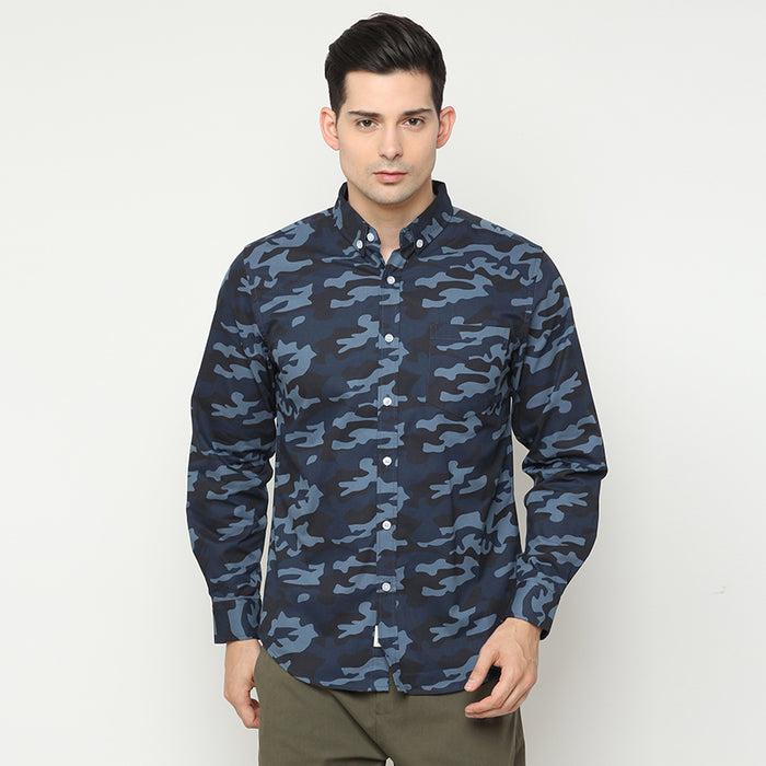 Army L/S Shirt - Blue