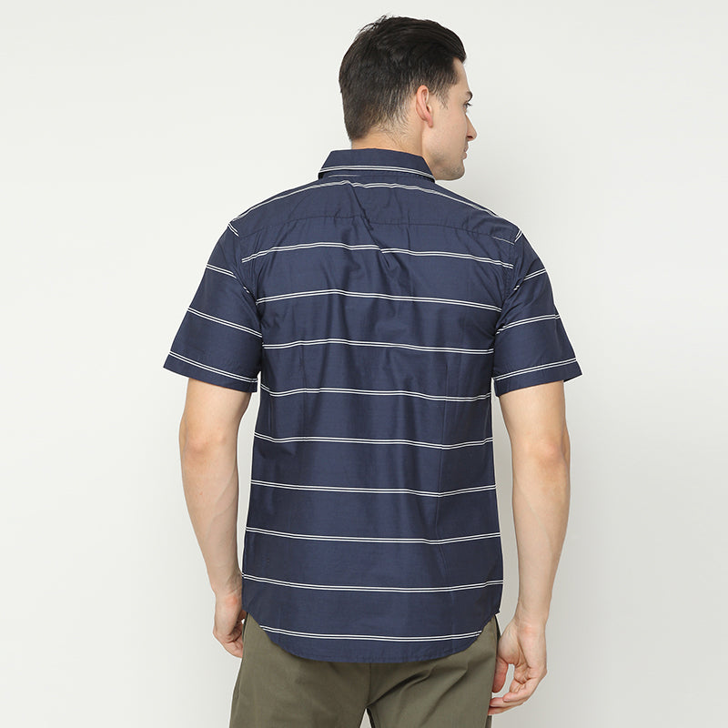 Lined 01 S/S Shirt - Navy