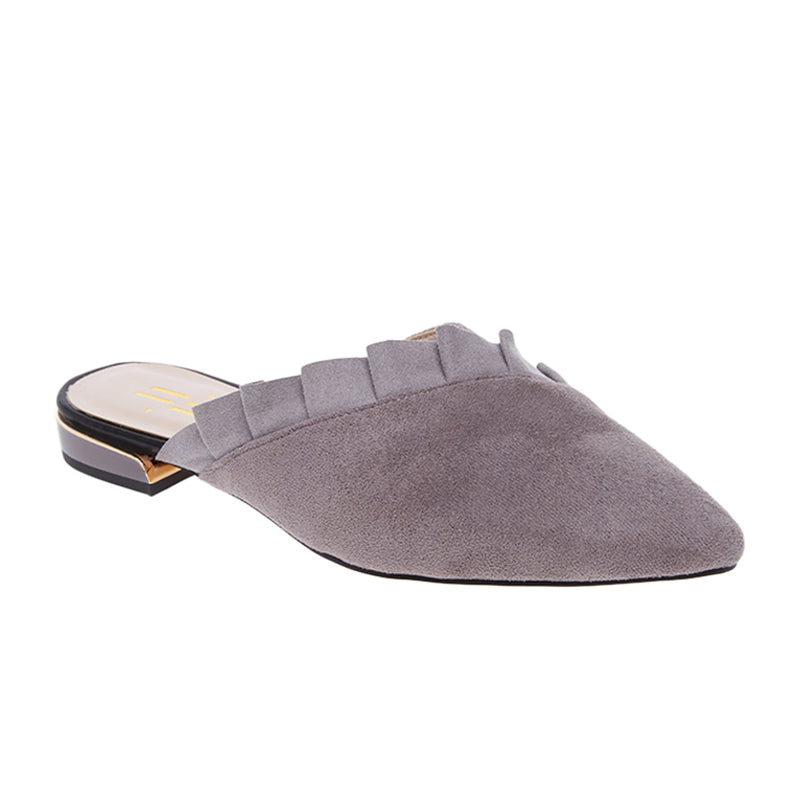 Woman Melissa Suede Mules - Grey