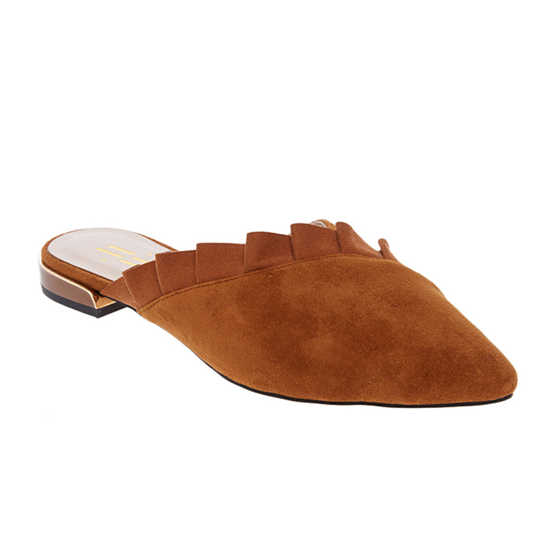Woman Melissa Suede Mules - Brown