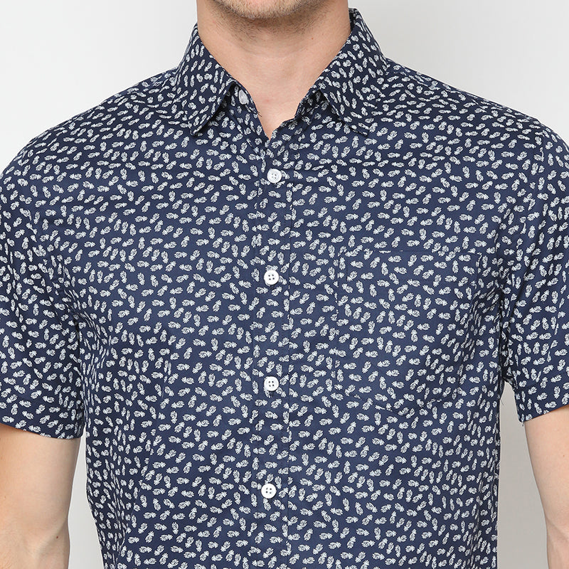 Pineapple 02 S/S Shirt - Navy