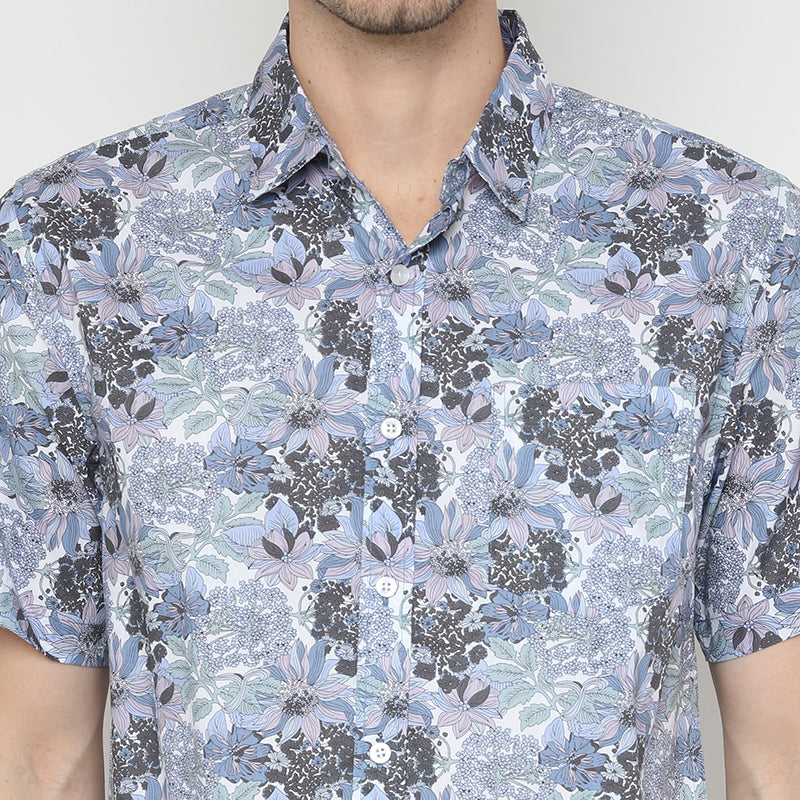Tropical S/S Shirt - Blue