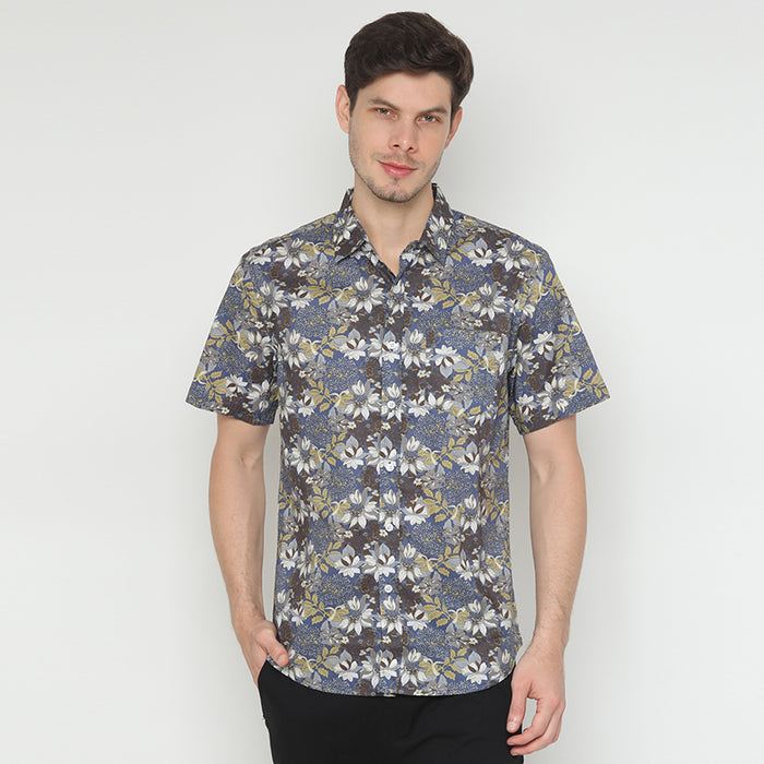 Tropical S/S Shirt - Navy
