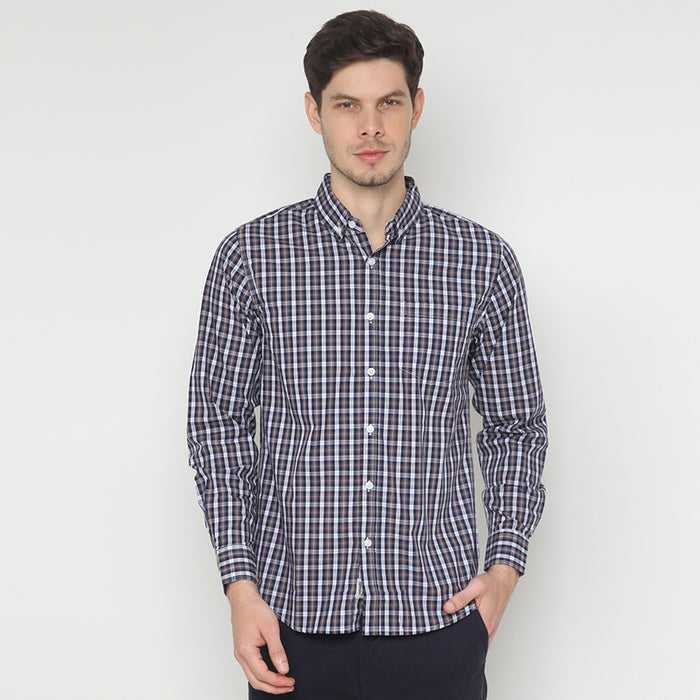 Plaid 08 L/S Shirt - Grey