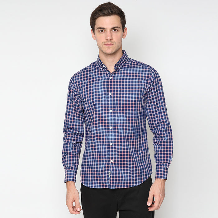 Plaid 09 L/S Shirt - Navy