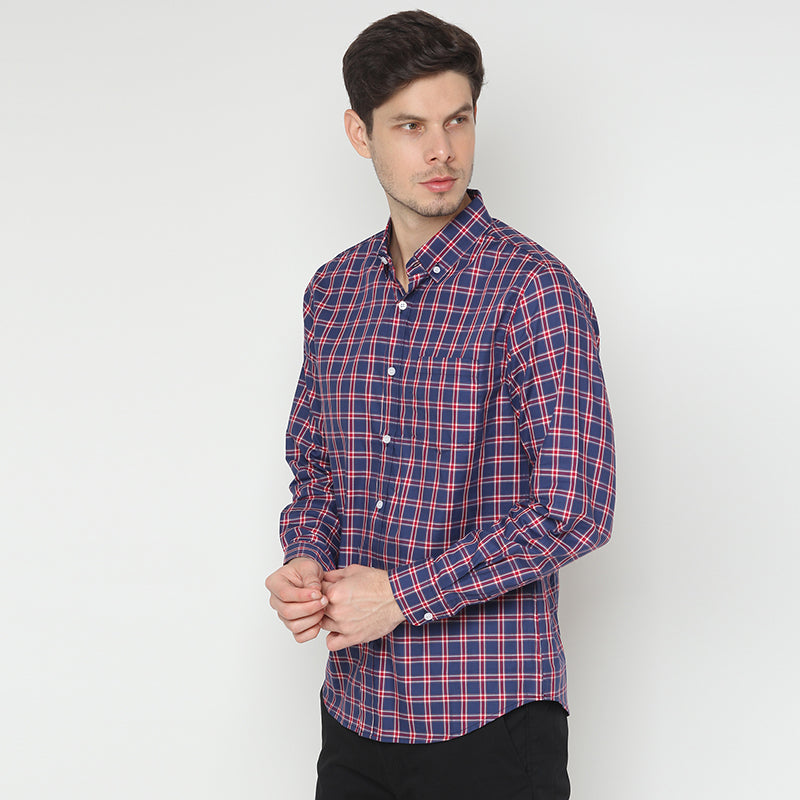 Plaid 010 L/S Shirt - Red