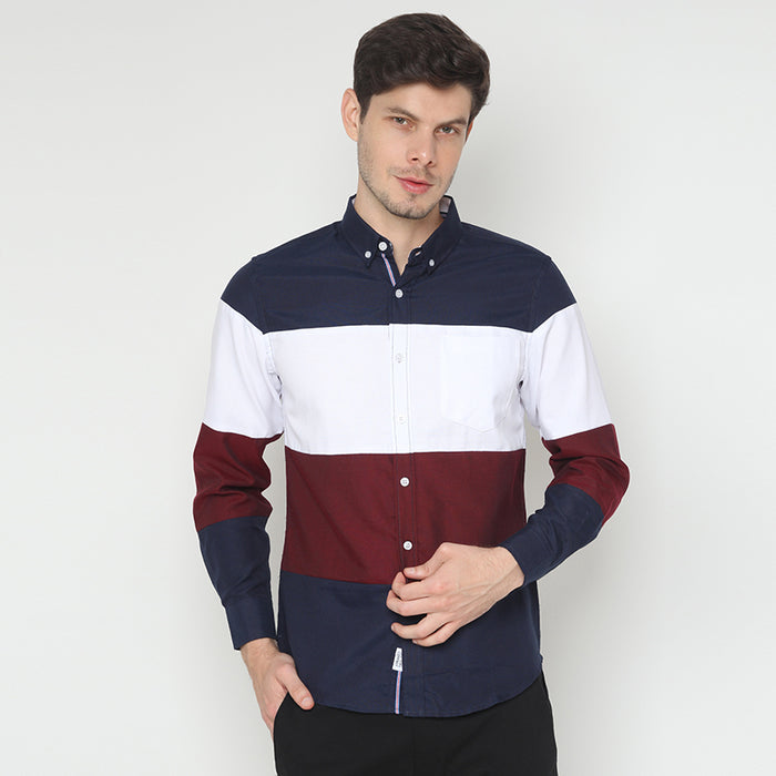Stripes L/S Shirt - Navy
