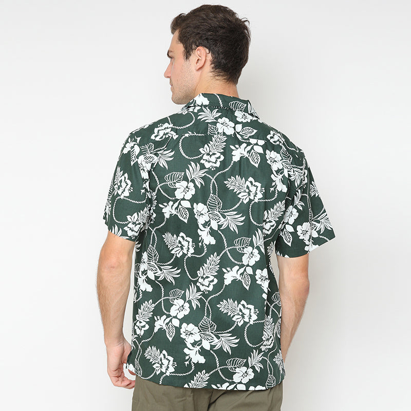 Relaxed Floral 01 S/S Shirt - Green