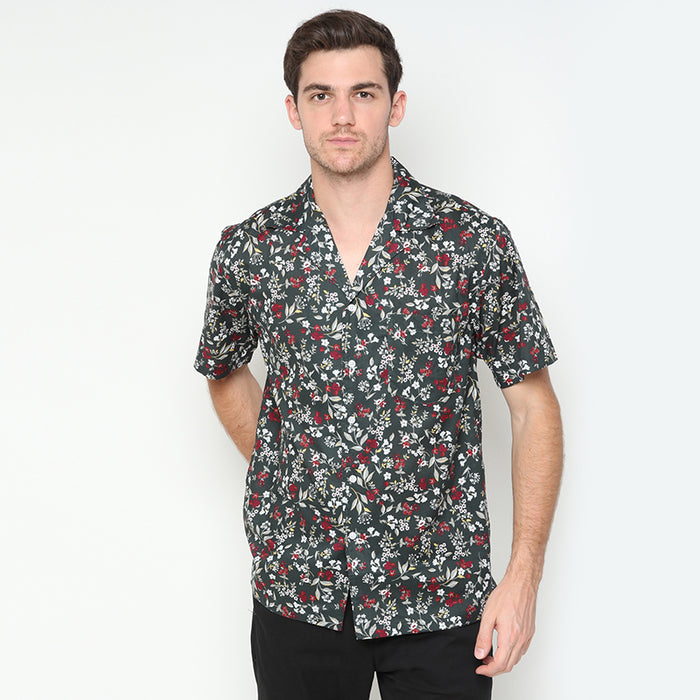 Relaxed Floral 02 S/S Shirt - Green