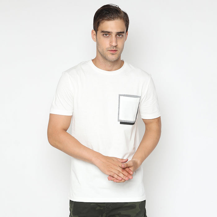 Pocket Stripes S/S Tee - White