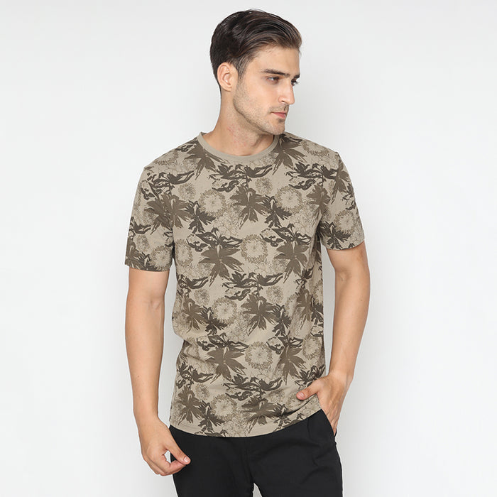 Leafs 02 S/S Tee - Brown