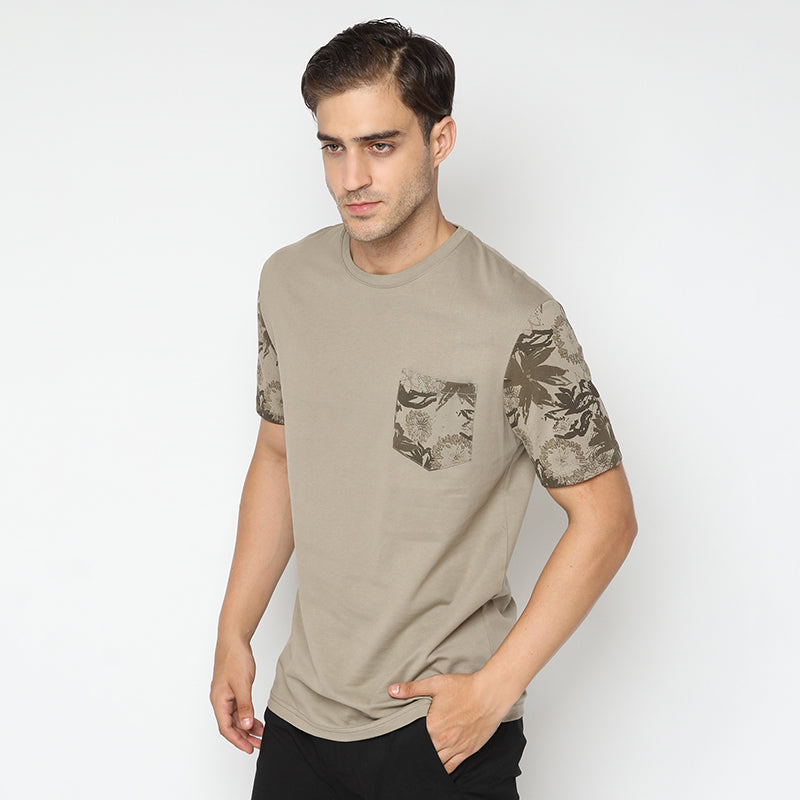 Leafs Pocket S/S Tee - Brown
