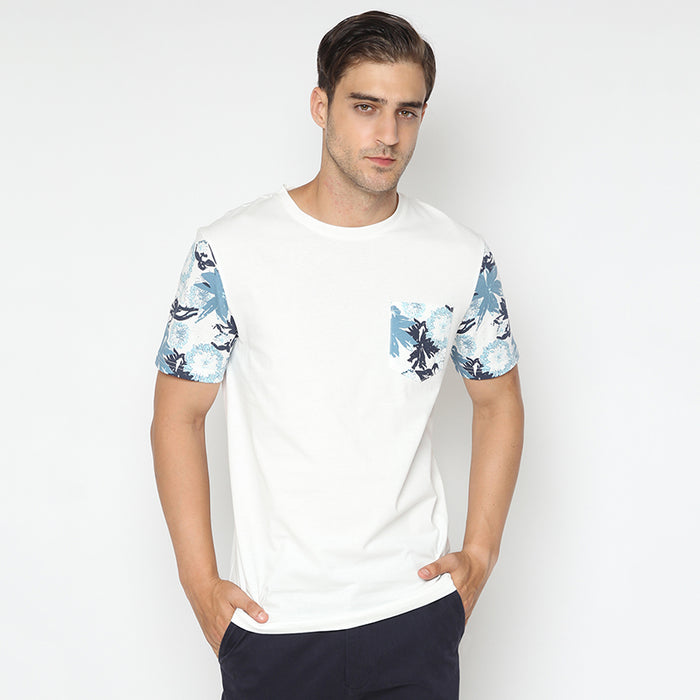 Leafs Pocket S/S Tee - White