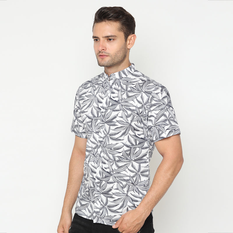Koko Leaf 02 S/S Shirt - White
