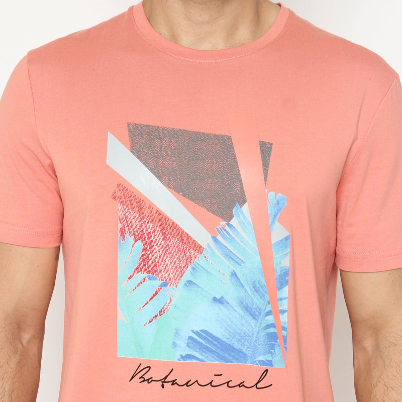 Botanical S/S Tee - Peach