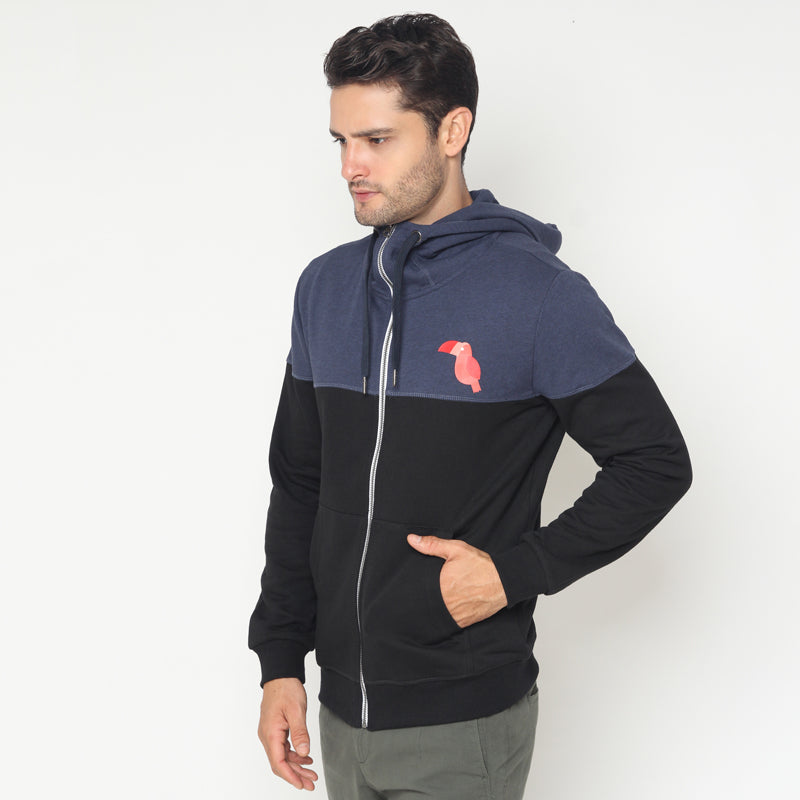Toucan Contrast Jacket - Black