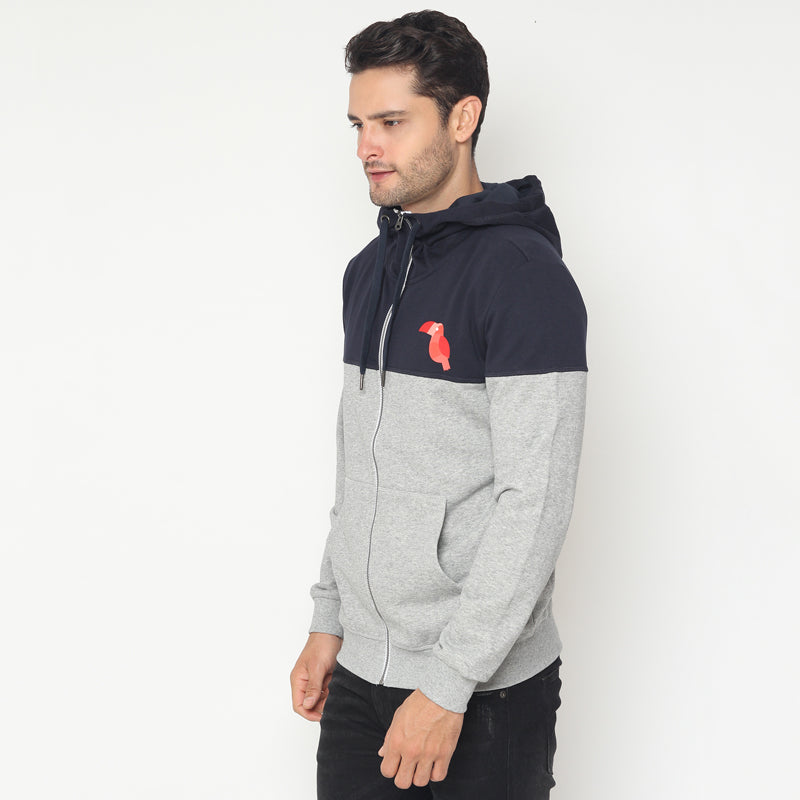 Toucan Contrast Jacket - Grey
