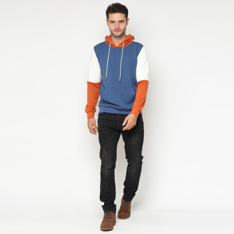 Tri-Colour Hoodies - Blue