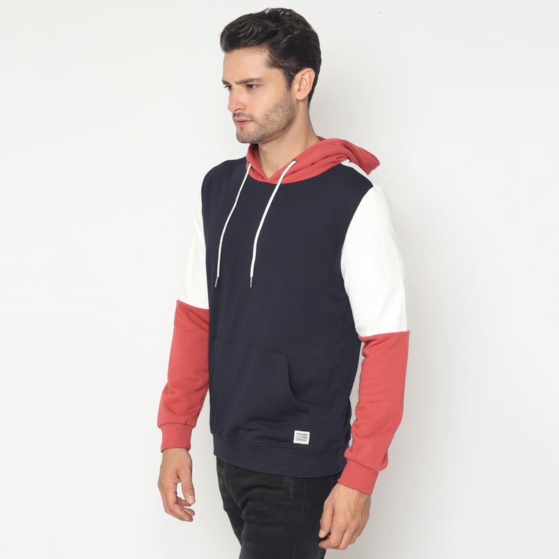 Tri-Colour Hoodies - Navy