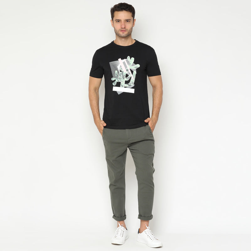 Cactus Abstract S/S Tee - Black