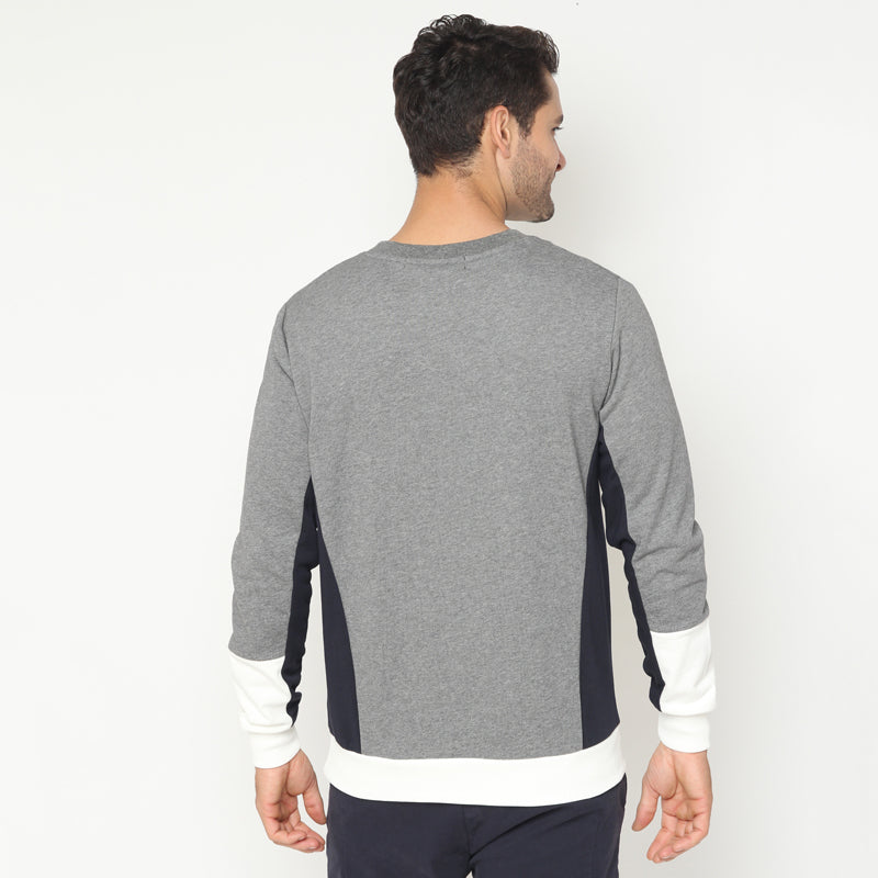 Tri-Colour Sweatshirt - Grey