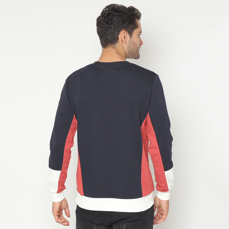 Tri-Colour Sweatshirt - Navy