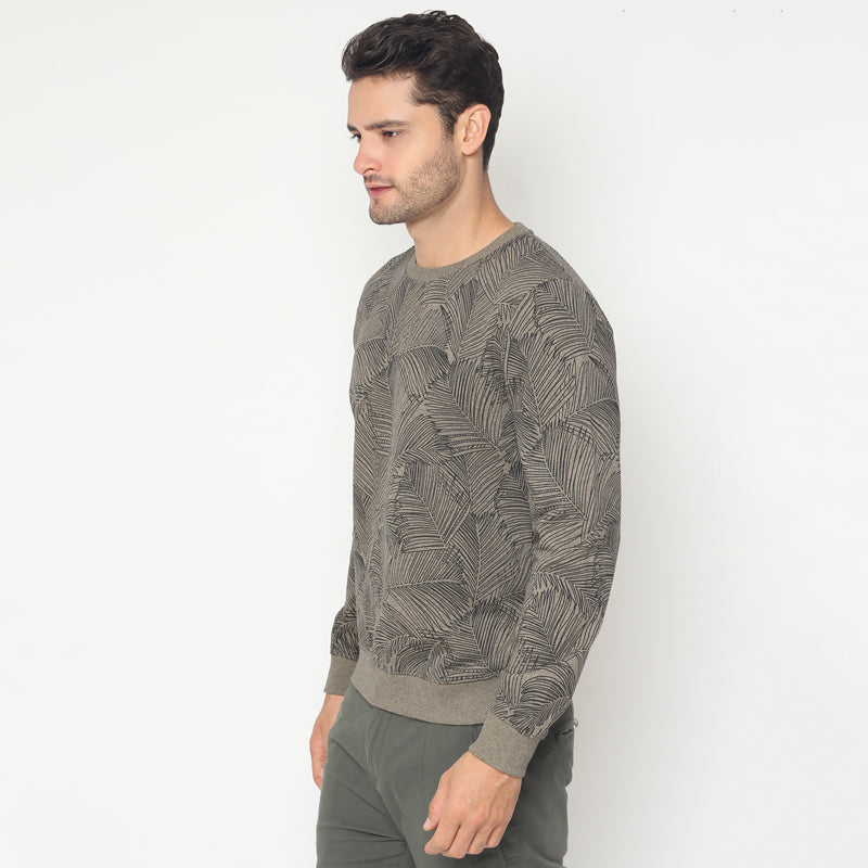 Palm Leaf Sweatshirt - Brown
