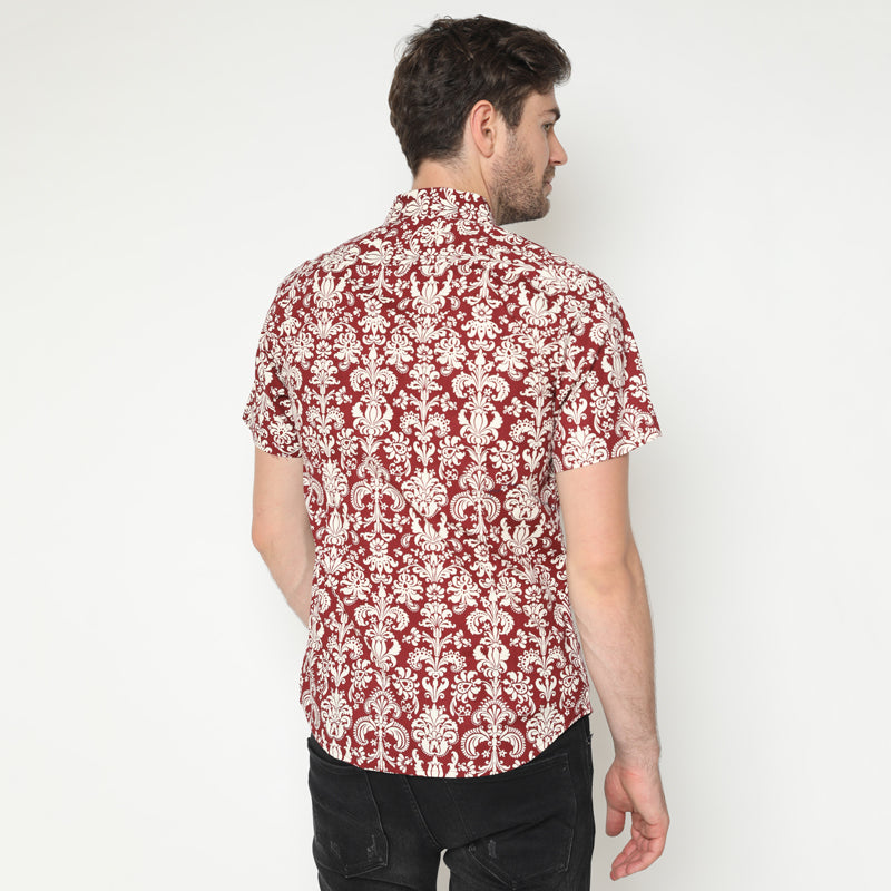 Pattern Print 08 S/S Shirt - Red