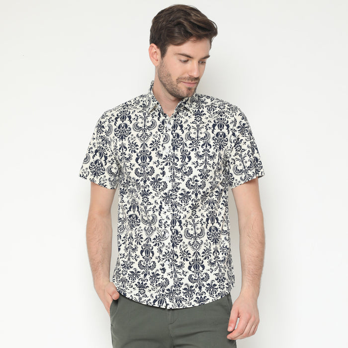 Pattern Print 08 S/S Shirt - White