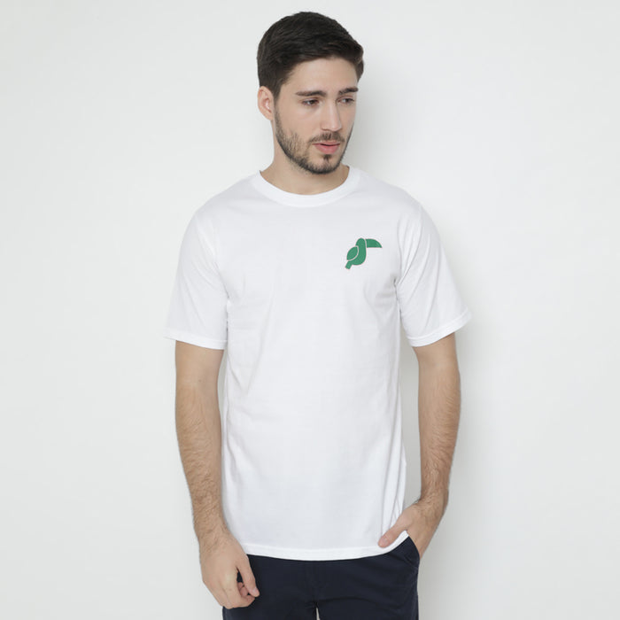 Toucan Lined S/S Tee - White