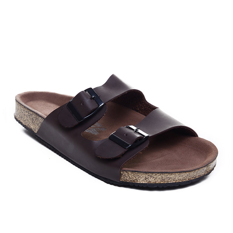 Boyd Double Strap Sandals - Brown
