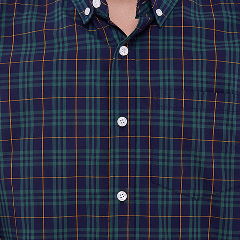 Plaid 01 L/S Shirt - Green