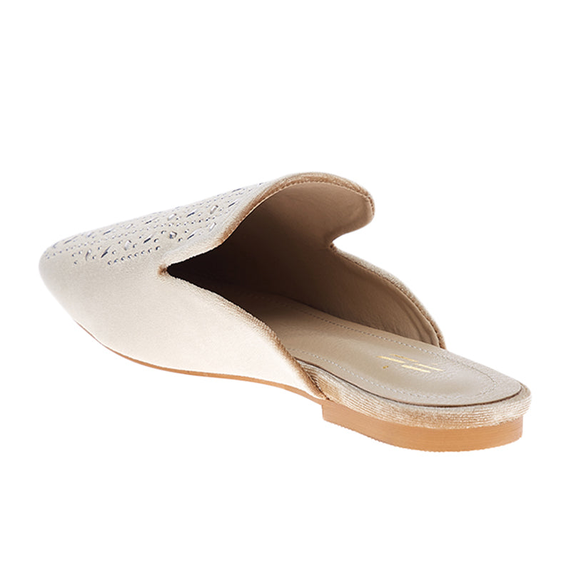 Woman Macy Suede Mules - Cream