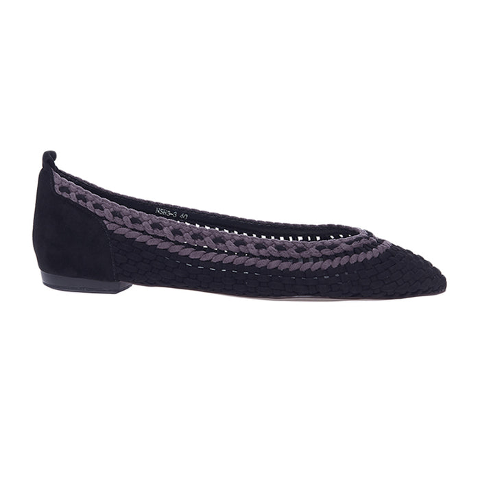 Woman Meghan Suede Flats - Black