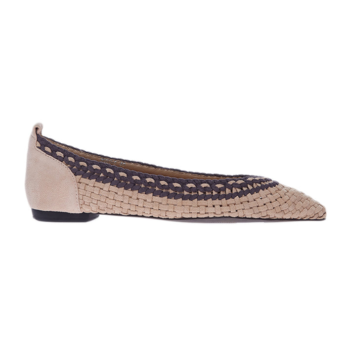 Woman Meghan Suede Flats - Cream