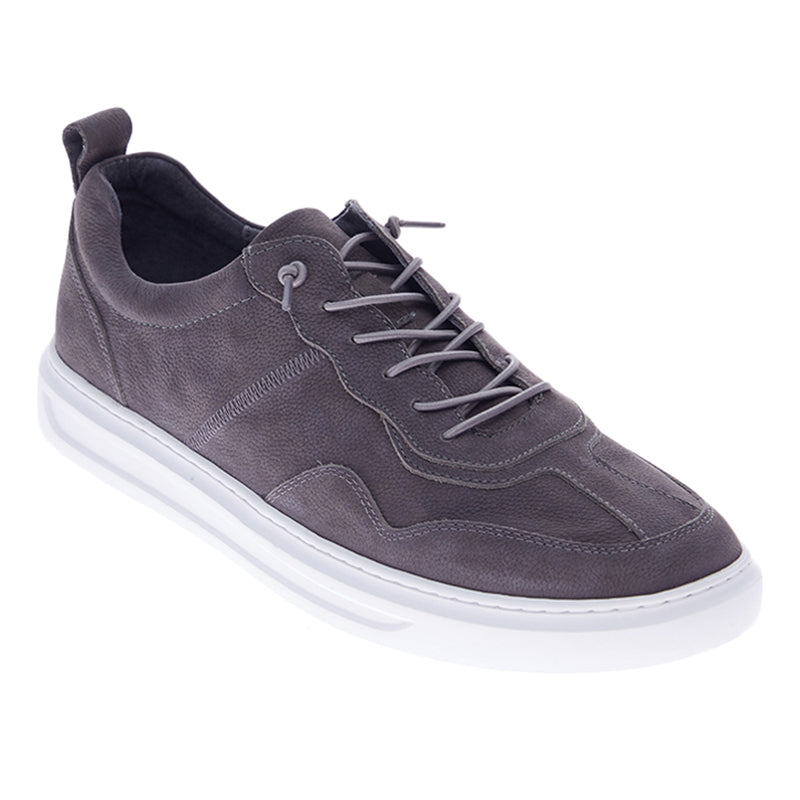 Nick Leather Sneakers - Grey