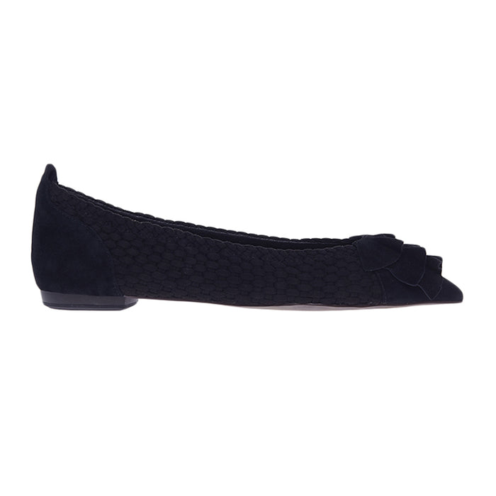 Woman Nydia Suede Flats - Black