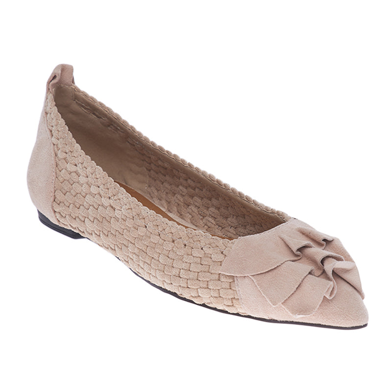 Woman Nydia Suede Flats - Cream